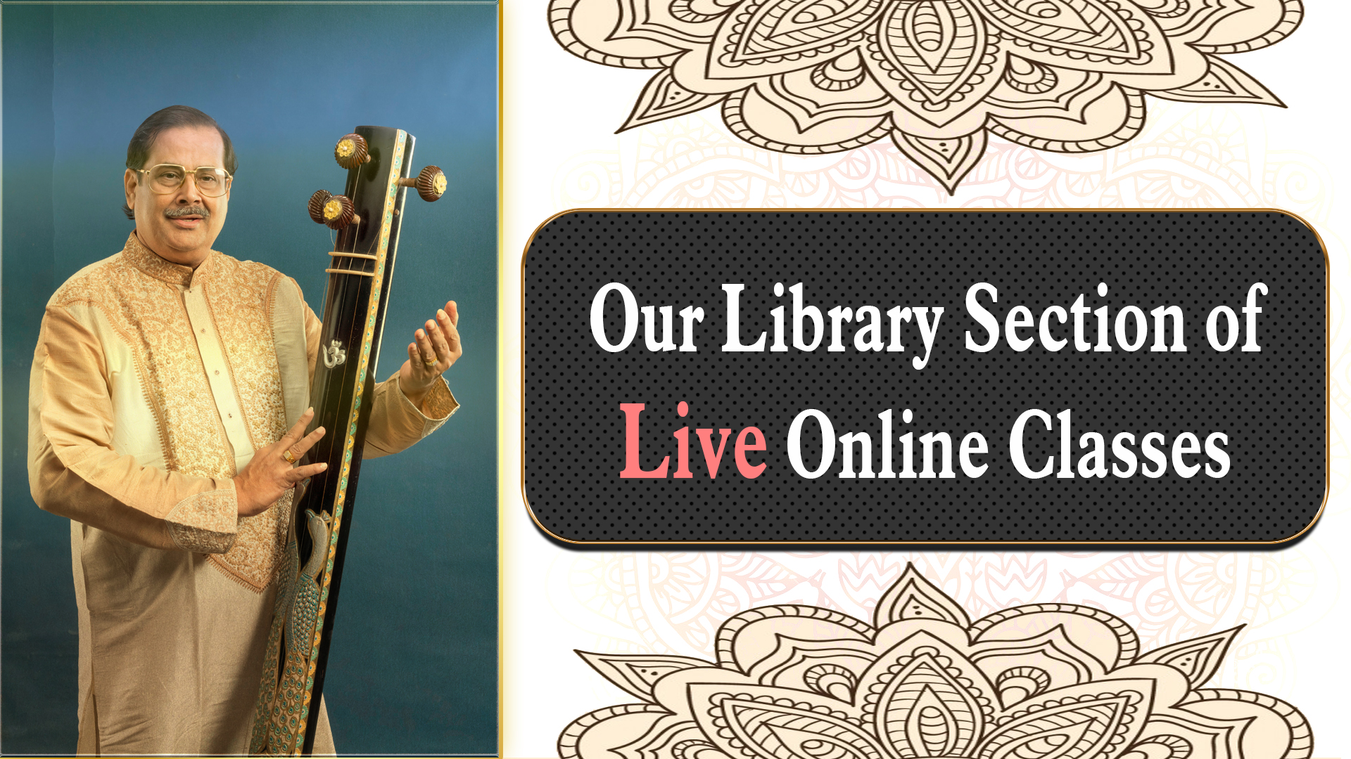 Our Library Section of Live Online Classes
